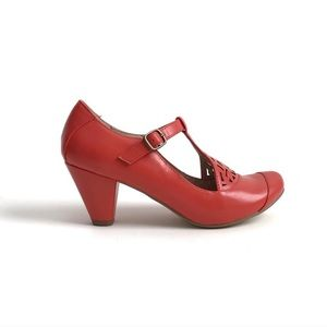 ModCloth | Chelsea Crew Mary Jane Coral Pumps